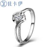 佐卡伊 钻戒女钻石戒指正品1克拉求婚结婚珠宝裸钻定制婚戒18K邂逅