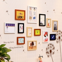 照片墙相框墙装饰夹子悬挂无痕钉小相框创意挂墙组合连体挂相片框