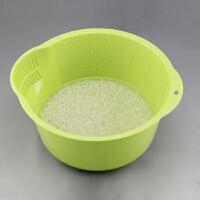 家用洗米盆�N房洗菜盆塑料�r水�@ 淘米器