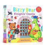 【发顺丰】英文进口原版 Bizzy Bear: Knights' Castle 忙碌的小熊骑士城堡 机关操作玩具纸板书