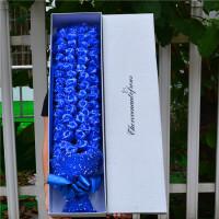 送女友闺蜜友情创意礼品浪漫香皂花束生日礼物女生七夕情人节礼物 99朵香皂花+雪点纱 蓝色