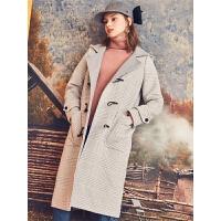 【3折到手价299元】格子毛呢西装外套女冬学生中长款韩版新款秋冬款小个子大衣女