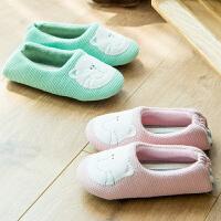 小猫脸儿童棉拖鞋包跟冬季宝宝卡通可爱幼童软底防滑室内家居布底