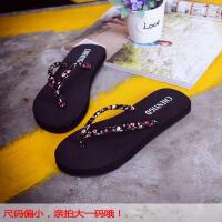 人字拖女夏季时尚韩版防滑简约夹脚拖厚底平跟外穿海边沙滩凉拖鞋平跟