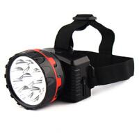 充电防水远射应急钓鱼灯矿灯照明灯9灯头灯户外头灯强光