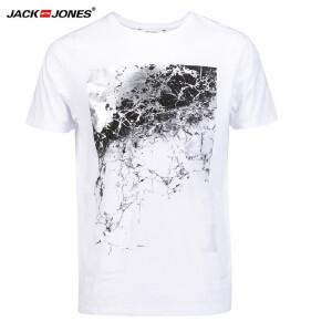 杰克琼斯/JackJones时尚百搭新款T恤 新款印花-9-4-2-216301518023