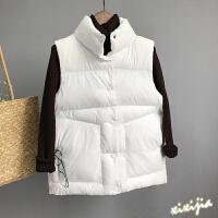 羽绒马甲女士秋冬新款短款韩版加厚面包棉背心坎肩