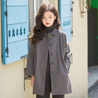 2019 女童风衣外套冬装中长款新款休闲外套腰带韩版 灰色