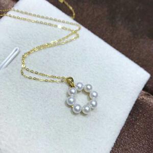 18k金镶嵌天然珍珠时来运转项坠(不含项链)BFH-FEH