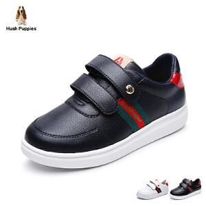 暇步士童鞋2017年新款休闲鞋男童女童板鞋中大童魔术贴学生鞋 DP9042