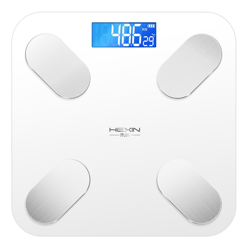 智能体脂称电子体重秤家用人体充电精准女生宿舍小型称重秤测脂肪 升级USB充电