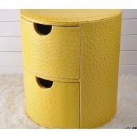 好吉森鹤//北京线上50元包邮//皮革收纳凳储物凳 文件盒资料箱 带盖储物凳子 创意文件盒方款或圆款-------------1个+送品548053