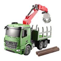 大号儿童电动遥控车运输车吊车充电遥控工程车模型玩具