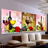 新款手工5D钻石画餐厅葡萄酒杯贴钻十字绣砖石秀小幅挂画
