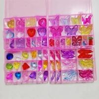 彩色钻石爱心蝴蝶宝石玩具儿童过家家游戏道具女孩五彩水晶鞋