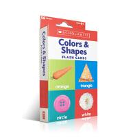 【全店300减100】英文原版 Colors & Shapes 颜色与形状 丰富多彩的双面闪卡片 提高儿童的认知度 4-