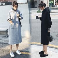 孕妇秋冬装套装时尚款2019新款韩版加绒孕妇卫衣潮妈冬季两件套女l11