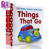 【中商原版】DK触摸启蒙 交通工具 Baby Touch and Feel 儿童英语启蒙触摸纸板书 撕不烂 边学边玩 英