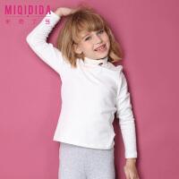 米奇丁当【X小怪兽定制款】女童纯色T恤新品冬装儿童长袖打底