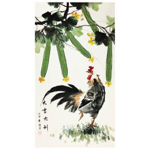 姜晓英《大吉大利》著名花鸟画家