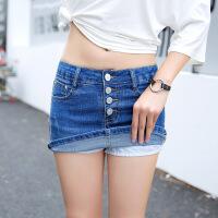 女装韩版新款短裤打底牛仔裤修身显瘦牛仔短裤裙防走光热裤子
