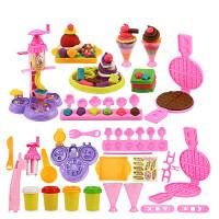 像皮泥儿童3D彩泥橡皮泥模具工具套装雪糕机女孩手工泥土玩具