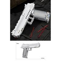 98k绝地可发射吃鸡玩具枪求生乐高社ak47拼装积木男孩信号枪