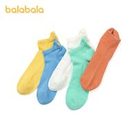巴拉巴拉儿童袜子夏季网眼袜宝宝短袜男女童运动时尚透气潮五双装