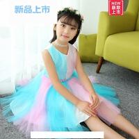 女童7彩虹连衣裙夏季2018新款9小女孩公主裙子4-12岁小学生表演服