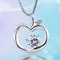 圣诞平安夜礼物925银项链小苹果饰品平安果吊坠女短款锁骨韩版