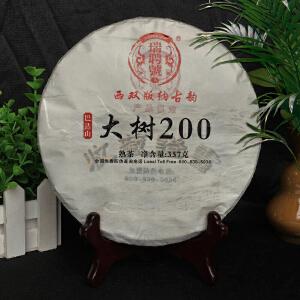 【整件28片】2010年瑞聘号(大树200)珍品普洱大树老熟茶 357g/片