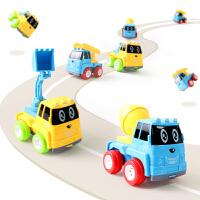 儿童惯性回力小汽车儿童早教玩具工程车宝宝玩具车迷你