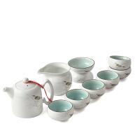 包邮 定窑陶瓷茶具套装 整套功夫茶具家用