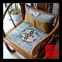 红木沙发仿云锦丝坐垫实木中式家具座垫官帽皇宫圈椅海绵加厚棕垫
