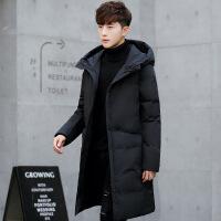 冬季羽绒服男中长款2018新款韩版修身反季节加厚青流外套