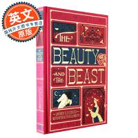 美女与野兽 立体书 英文原版 全彩复刻插图版 Beauty and the Beast 迪士尼童话电影同名原著 哈利波