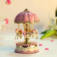 礼物送女友老婆礼物女生 旋转木马八音盒音乐盒水晶球