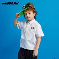 商场同款漫画家童装男童2020夏装新款儿童时尚百搭套头式衬衫时髦