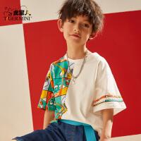 【2件3折:44.7元】小虎宝儿男童短袖t恤纯棉2021夏季款潮童韩版儿童上衣洋气童装