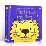 英文原版绘本 That's not my lion 那不是我的狮 Usborne经典触摸书纸板书 0-3岁儿童感知触觉