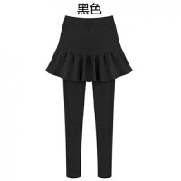 打底裤裙女士冬季包臀假两件加绒加厚带裙百褶连裤裙子外穿显瘦紧身