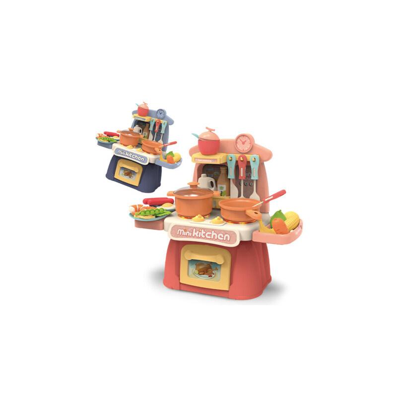 儿童过家家小厨房玩具套装宝宝女孩男孩女童小孩仿真厨具做饭煮饭1 灯光音效、送电池、满38元送围裙