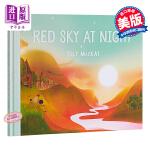 【中商原版】Elly MacKay:红色的晚霞 Red sky at night 精品绘本 故事书 人与自然 晚霞 美