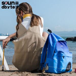 【支持礼品卡支付】soundbyte 新款双肩包学生学院风书包百搭休闲旅游电脑背包