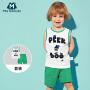 【满200减100】迷你巴拉巴拉儿童装2件套2018新款夏季男童幼童宝宝无袖背心套装