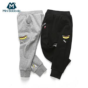 迷你巴拉巴拉儿童裤子男小童春装新款宝宝卫裤幼童哈伦裤长裤