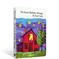 英文原版纸板书Eric Carle:The Secret Birthday Message Board Book 秘密