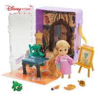 迪士尼商店 �L�l公主小美人�~公主迷你小屋套�b�和�DIY玩具玩偶