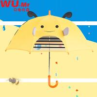 【每满100减50】乌龟先森 儿童雨伞 男女童立体耳朵创意时尚百搭休闲夏季新款动物卡通印花8骨手动长柄伞