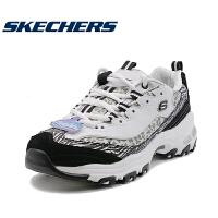 skehers斯凯奇情侣黑金豹纹熊猫运动鞋